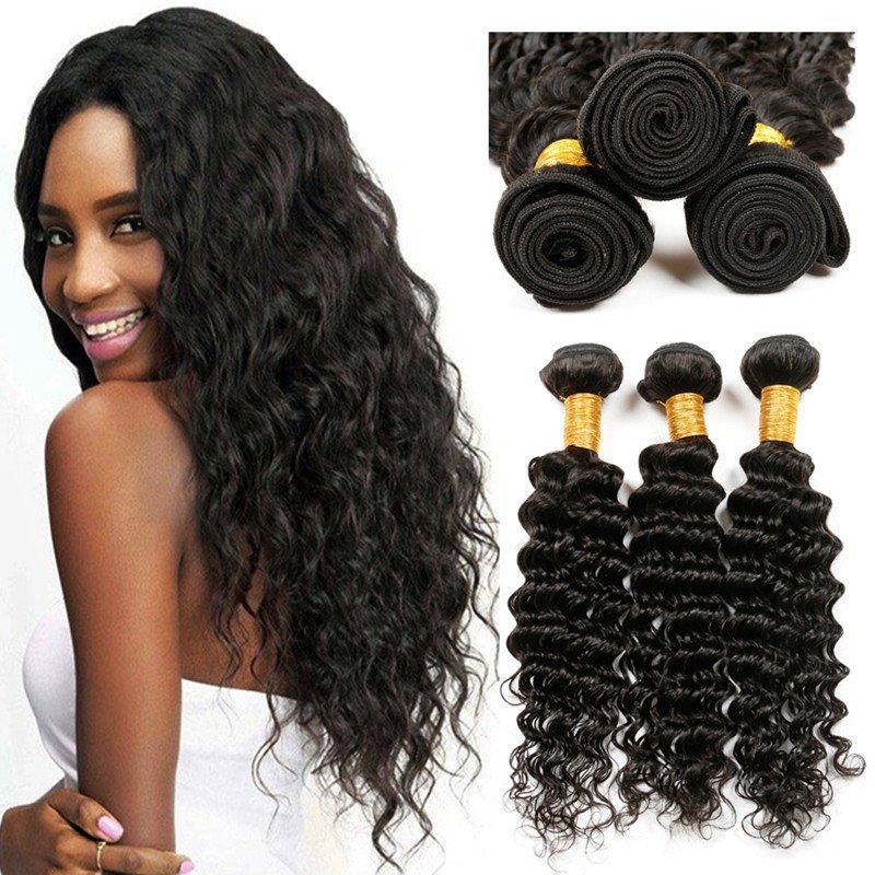High Quality Deep Weave Hair Peruvian Deep Wave Hair With Closure